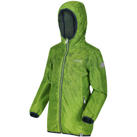 Regatta Printed Lever Chaqueta Impermeable Niños, electric lime
